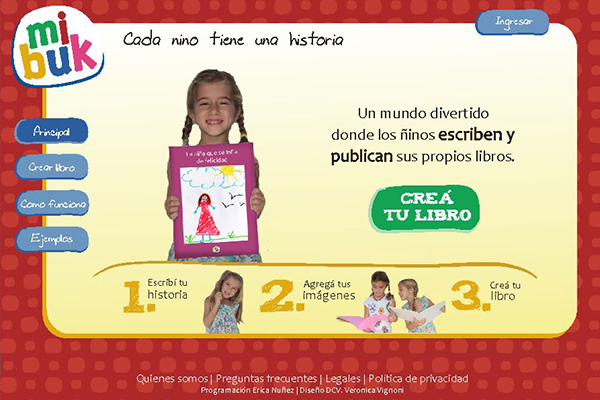 Mibuk is a web application to create and print custom books in schools.