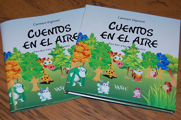 Cuentos en el Aire - Book of children\'s stories that my grandmother told me when I was a child. Design, edition and binding. Illustration Adrian Ufano