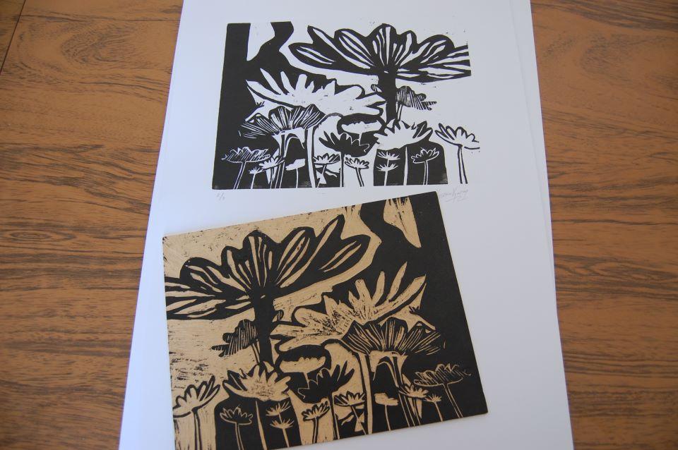 Xylography - Wooden matrix - Ink copies