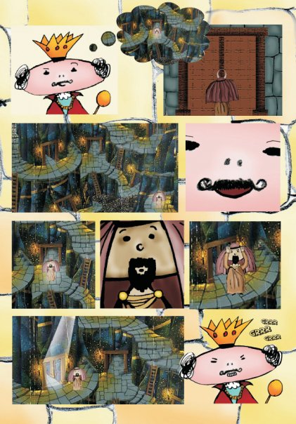"""Cartoon adaptation of the story \""""The Labyrinth\"""" by J.L. Borges"""
