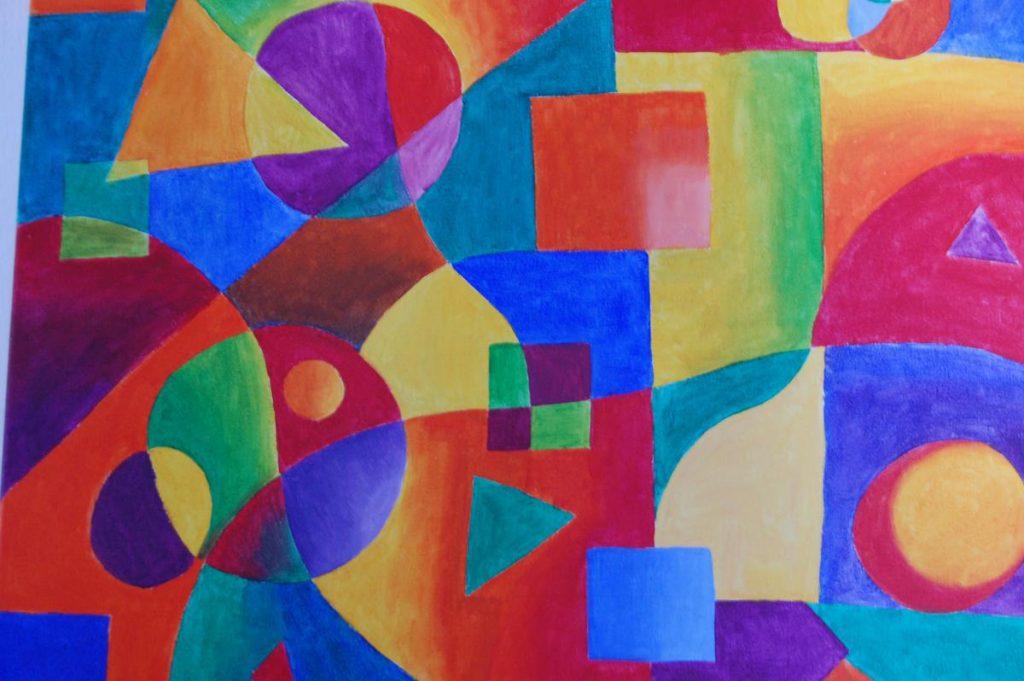Autorretrato abstracto - Abstract Self Portrait - Acrylic on canvas. 2012. Dimensions: 40cm x 60cm