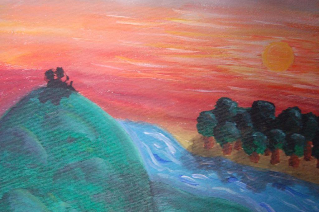Montañas - Mountains - Acrylic on canvas. 2012. Dimensions: 20cm x 30cm
