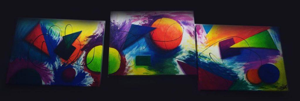 Mamarrachito - Acrylic on canvas. Three pices. 2014. Dimensions: 20cm x 30cm each.