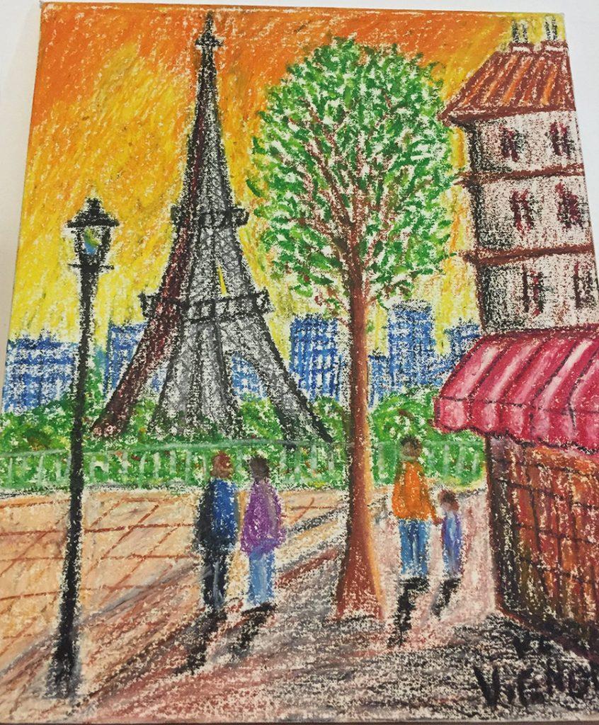 Paris  (copy) - Waxes on canvas. 2018. Dimensions: 40cm x  25cm